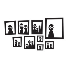 picture frames vector on white background