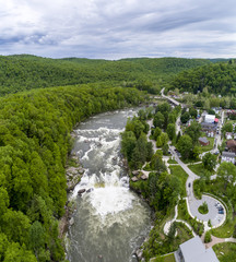 Downtown Ohiopyle and Waterfall