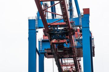 Detail of a harbour crane