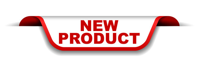 red and white banner new product