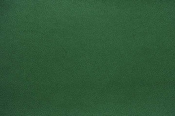 Beautiful abstract texture detail background of green genuine cow leather.