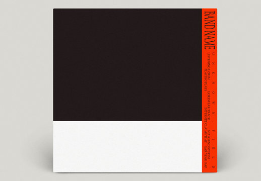 Red and Black Colorblock CD Cover Layouts