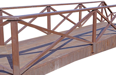 Wooden platforms and railings