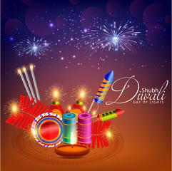 creative design illustration for Shubh Diwali or Shubh Deepawali.