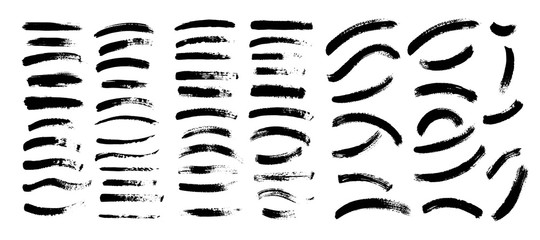 Vector black paint, ink brush stroke, brush. Scribble texture.