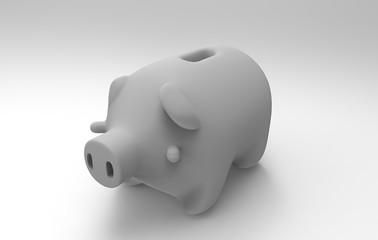 Piggy Bank 3D Render