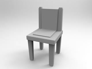 Gray Chair 3d render