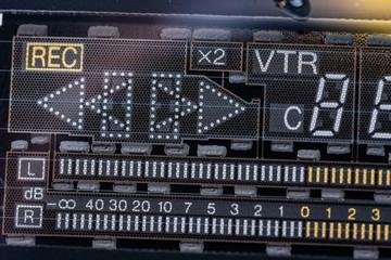ビデオデッキの蛍光表示管