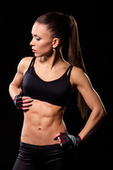 Woman with fit abdomen.