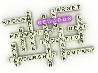 3d Rewards. Business concept illustration