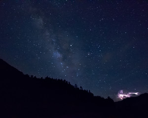 storm and milky way