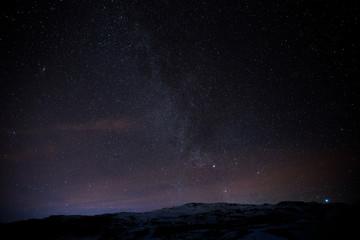 Die Milchstraße über dem winterlichen Island