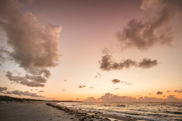 Scandinavian sunset by the ocean in Denmark