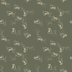 UFO military camouflage seamless pattern in in different shades of green and beige colors