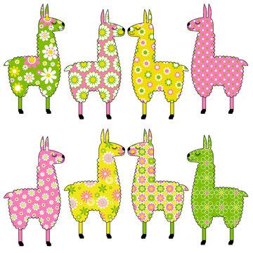llama vectors with patterns
