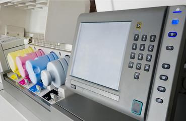 Digital print machine detail and cartridges