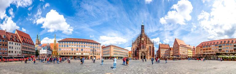 Nürnberg Hauptmarkt Panorama,