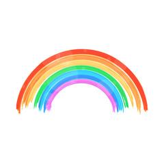 Painted shiny rainbow