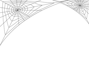concentric white web on a white background