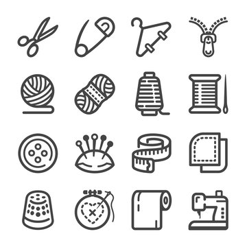 sewing icon set