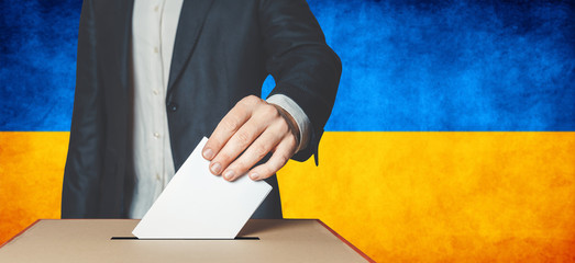 Elections in Ukraine, political struggle. Democracy, freedom and independence concept.