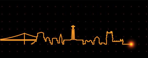 Lisbon Light Streak Skyline