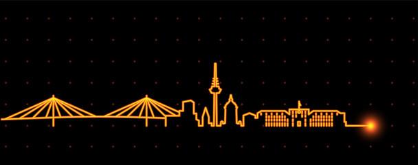 Mannheim Light Streak Skyline