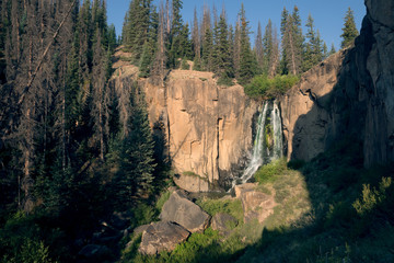 South Clear Creek Falls,  Rio Grande National Forest,  Colorado, US