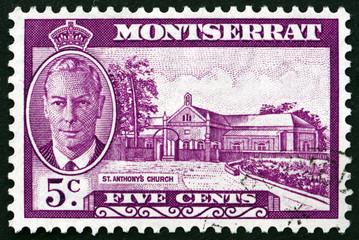 Postage stamp Montserrat 1951 St. Anthony's Church