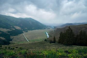 The Rio Grande Valley, highway 169  in Rio Grande National Forest,  Colorado, US