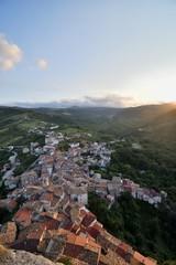 Veduta di Pennadomo al tramonto - Chieti - Abruzzo - Italia