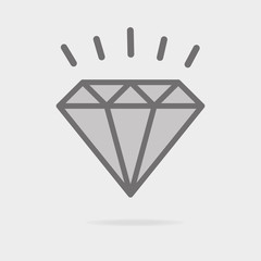 Diamond line icon, outline vector sign, linear style pictogram isolated on white. Gemstone symbol, logo illustration. Editable stroke. Pixel perfect.