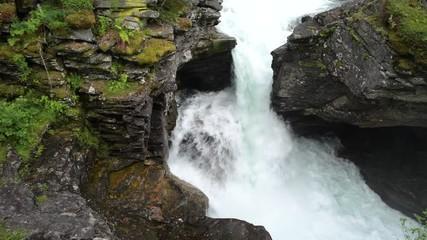 Wall Mural - Mountain River Scenery. Norwegian Landscape.