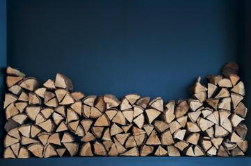 Wall Murals Firewood texture Pile of logs