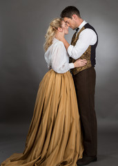 Historical Western Couple