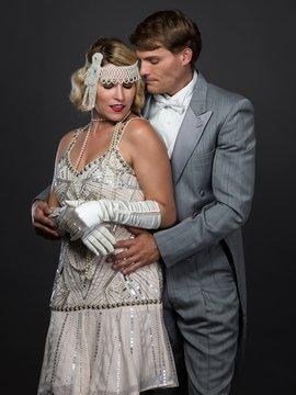 Roaring Twenties Flapper Couple
