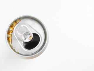 Sparkling water in can