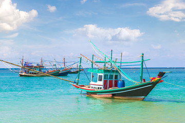 Fisherman boat on Phangan Island