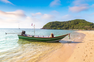 Fisherman boat on Phangan Island