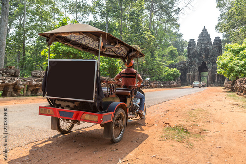 tuk tuk in angkor cambodia stockfotos und lizenzfreie. Black Bedroom Furniture Sets. Home Design Ideas