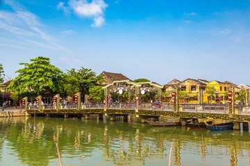 Cau An Hoi bridge in Hoi An, Vietnam