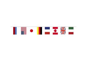 G8主要国首脳会議の国旗