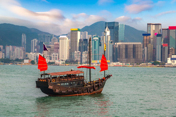 Fotobehang Hong-Kong Victoria Harbour in Hong Kong