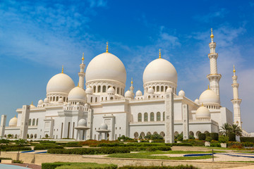 Papiers peints Moyen-Orient Sheikh Zayed Grand Mosque in Abu Dhabi