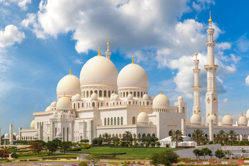 Wall Murals Middle East Sheikh Zayed Grand Mosque in Abu Dhabi