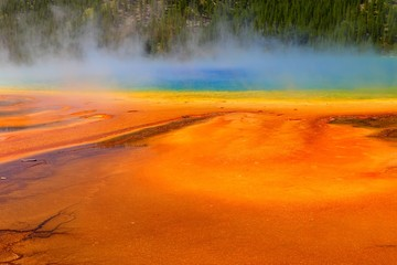 Grand Prismatic Spring in Yellowstone National Park Wyoming, USA