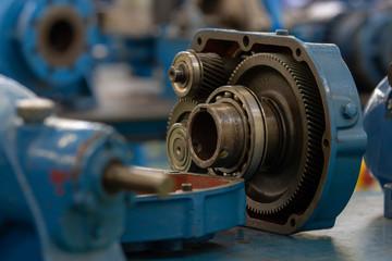 Ball bearing for heavy machinery.