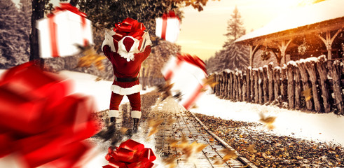 Red old Santa Claus and winter time