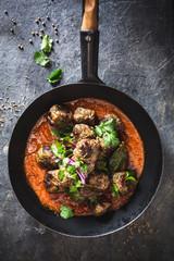 Boulette de Viande à l' Indienne et sauce au Curry