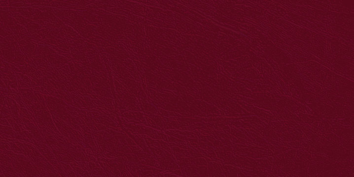 Colored  skin texture, natural or faux maroon leather background, closeup.